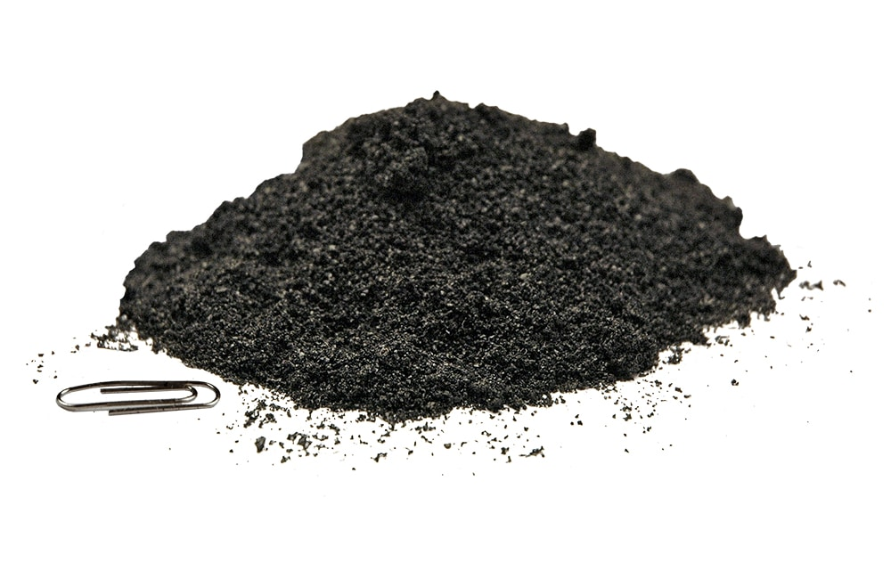 Rubber powder made from CrackerMill