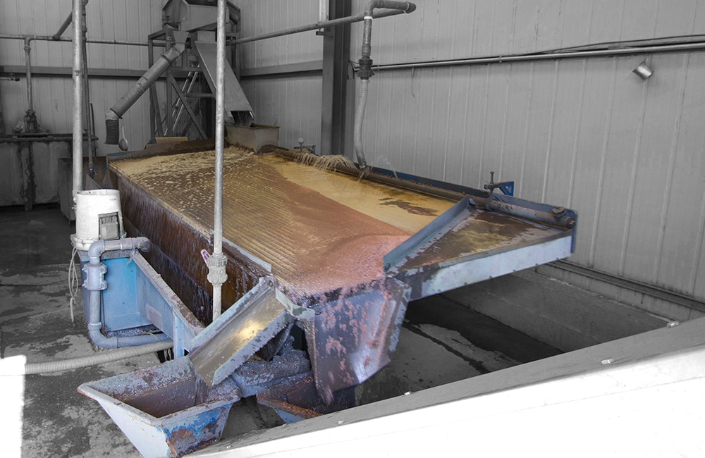 Water Separation Table - Material Separation